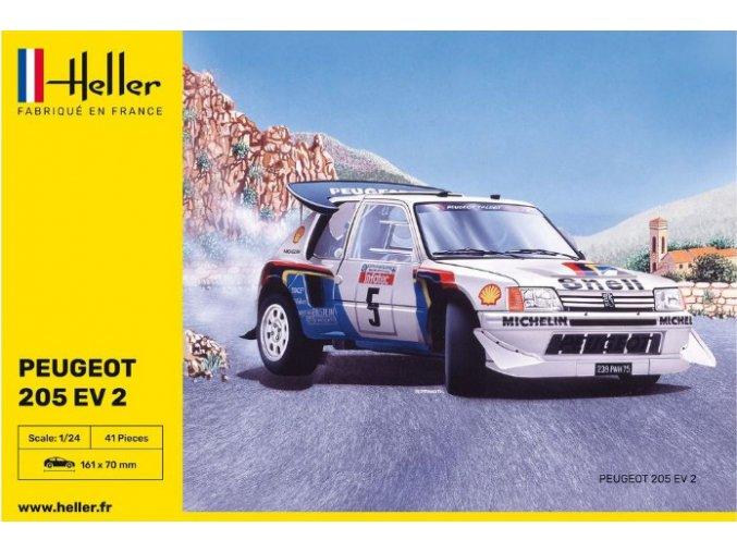 Heller Peugeot 205 EV.2 1985 1:24 80716