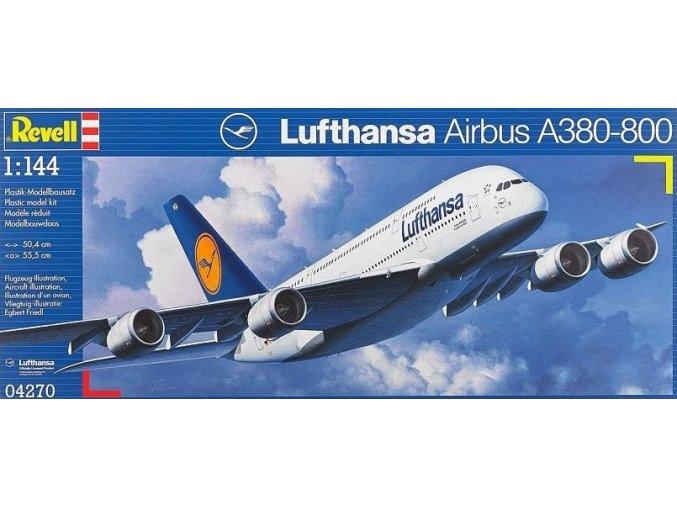 Revell letadlo Airbus A380-800 Lufthansa 1:144 04270
