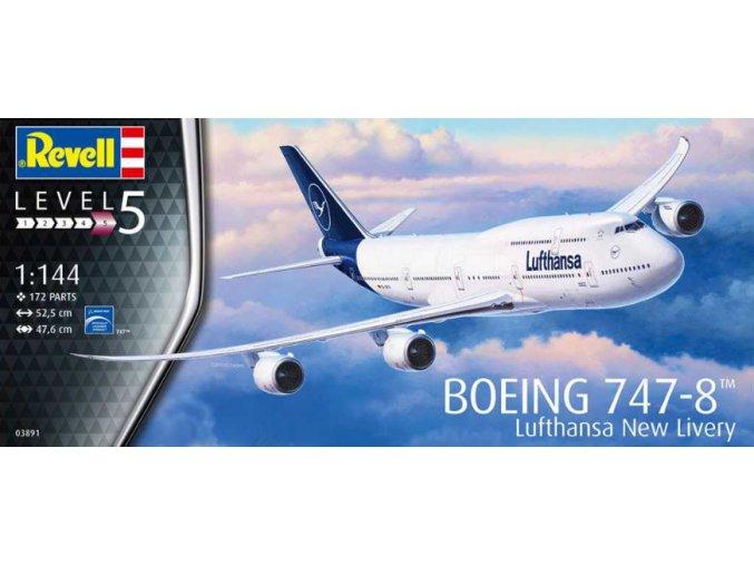 Revell Boeing 747-8 Lufthansa New Livery 1:144 03891