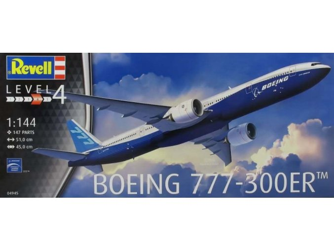 Revell letadlo Boeing 777-300ER 1:144 04945