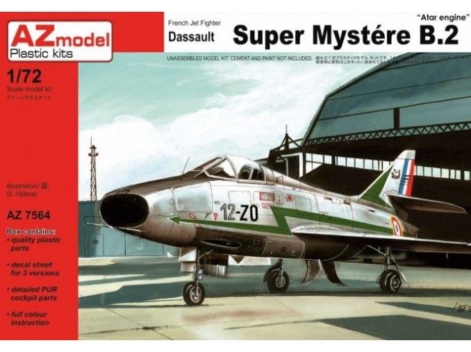 AZ model Dassault Super Mystere B.2 1:72 AZ 7564