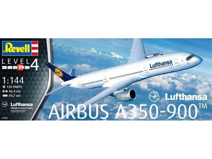 Revell letadlo Airbus A350-900 Lufthansa 1:144 03938