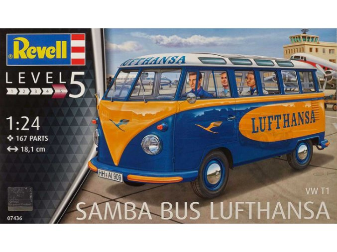 Revell VW T1 Samba Bus Lufthansa 1:24 07436