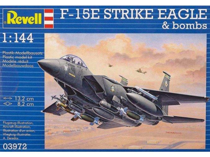 Revell letadlo F-15E Strike Eagle & Bombs 1:144 03972