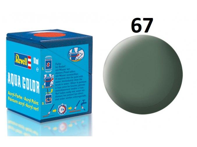 Revell barva akrylová - 36167: matná zelenavě šedá (greenish grey mat)