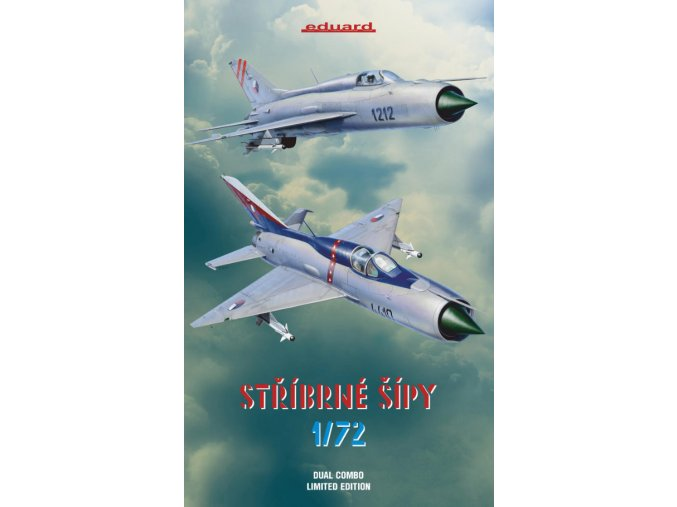 Eduard Stříbrné šípy MiG 21 PF PFM 1:72 2134 Dual combo