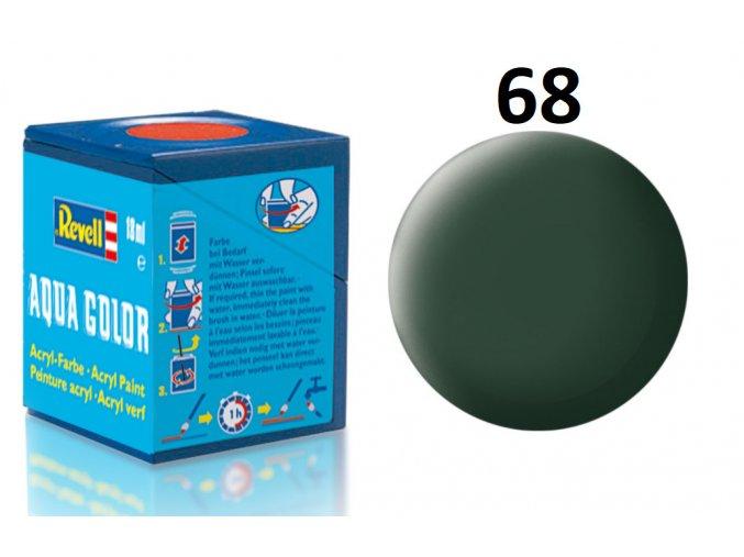 Revell barva akrylová - 36168: matná tmavě zelená (dark green mat RAF)