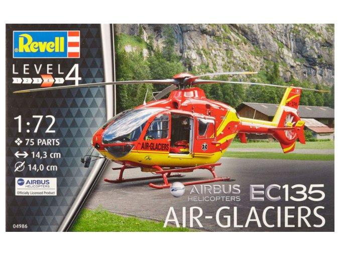 Revell vrtulník EC-135 Air Glaciers 1:72 04986