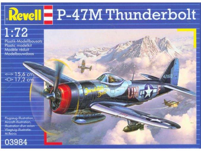Revell letadlo P-47M Thunderbolt 1:72 03984