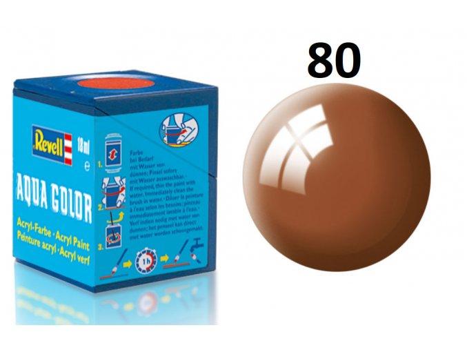 Revell barva akrylová - 36180: leská blátivě hnědá (mud brown gloss)