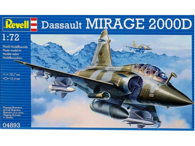 Revell letadlo Dassault Mirage 2000D 1:72 04893