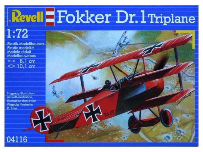 Revell letadlo Fokker Dr. I 1:72 04116