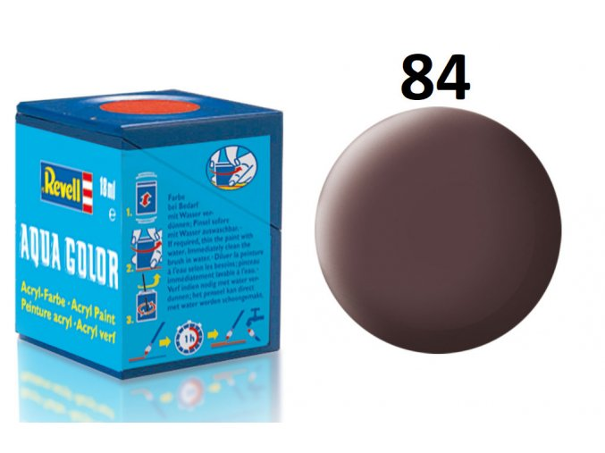 Revell barva akrylová - 36184: matná koženě hnědá (leather brown mat)