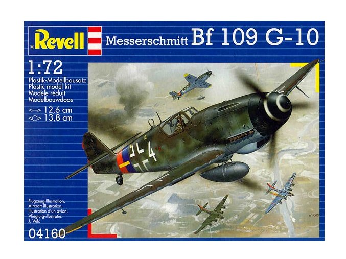 Revell letadlo Messerschmitt Bf 109 G-10 1:72 04160