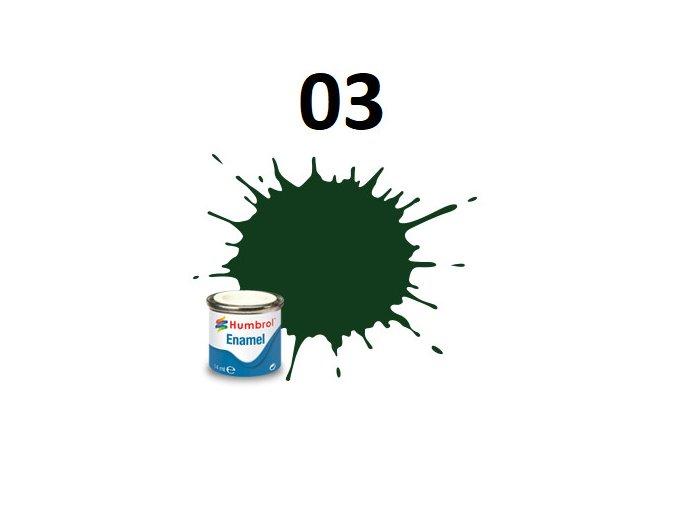 Humbrol barva emailová 03 Brunswick Green - Gloss