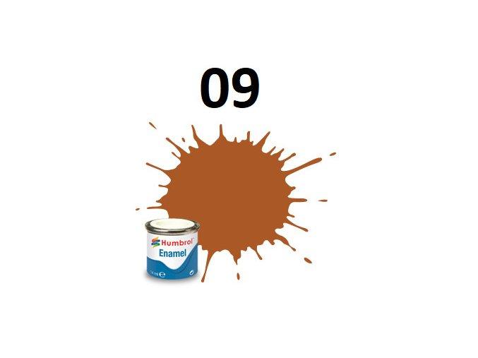 Humbrol barva emailová 09 Tan - Gloss