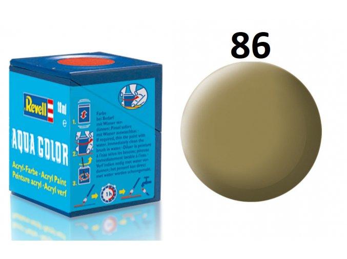 Revell barva akrylová - 36186: matná olivově hnědá (olive brown mat)