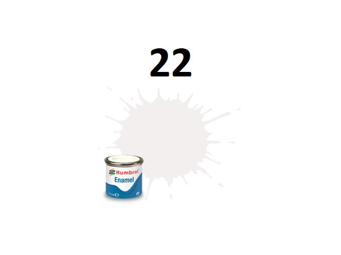Humbrol barva emailová 22 White - Gloss