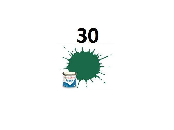 Humbrol barva emailová 30 Dark Green - Matt