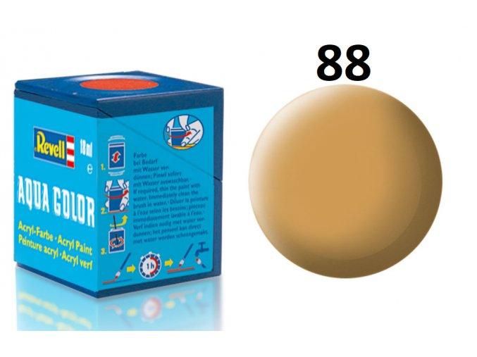 Revell barva akrylová - 36188: matná okrově hnědá (ochre brown mat)