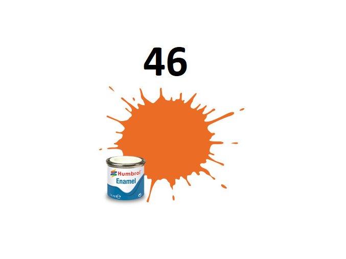 Humbrol barva emailová 46 Enamel Orange - Matt