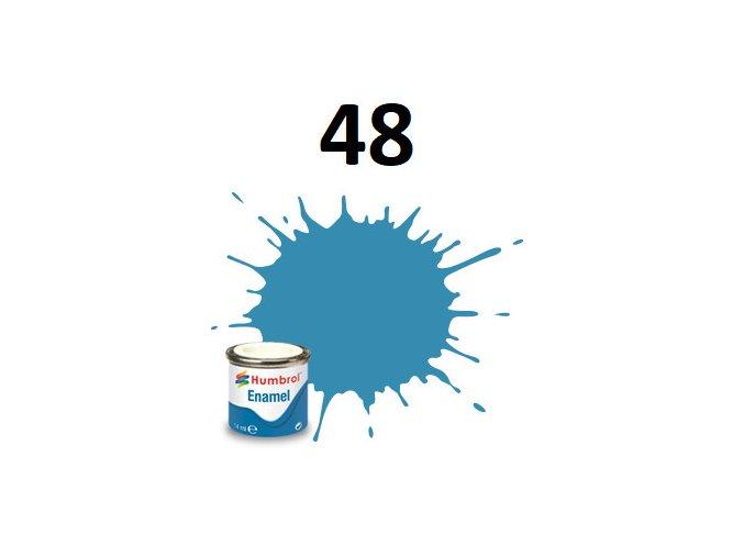 Humbrol barva emailová 48 Mediterranean Blue - Gloss