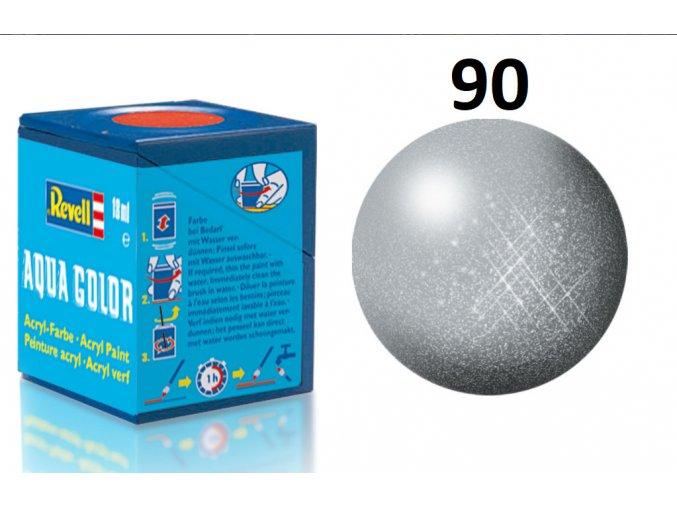 Revell barva akrylová - 36190: metalická stříbrná (silver metallic)