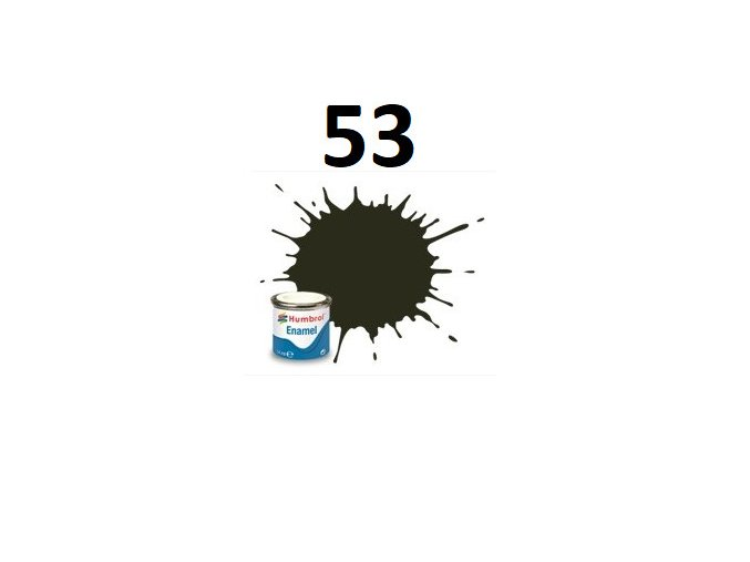 Humbrol barva emailová 53 Gunmetal - Metallic