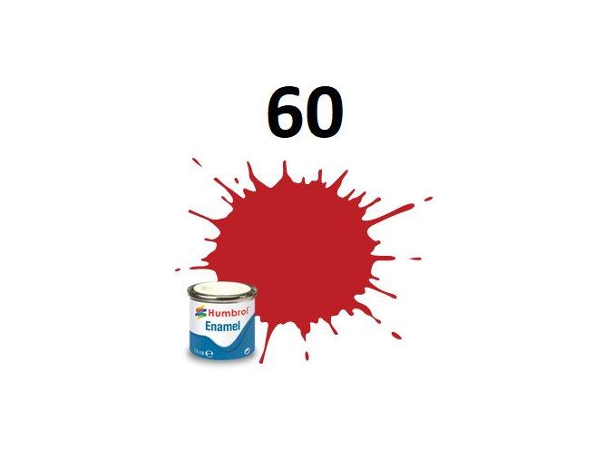 Humbrol barva emailová 60 Scarlett - Matt