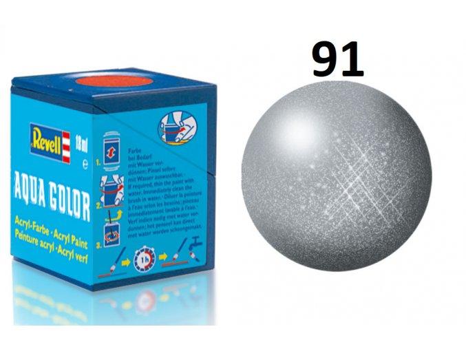 Revell barva akrylová - 36191: metalická ocelová (steel metallic)