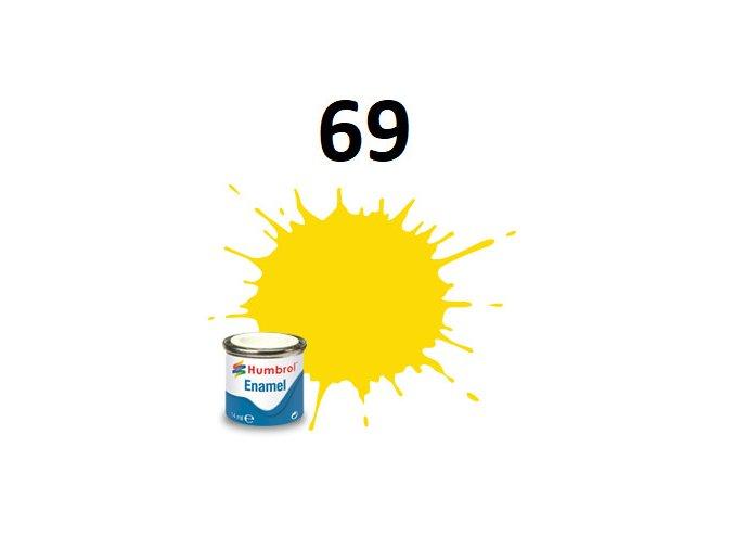 Humbrol barva emailová 69 Yellow - Gloss