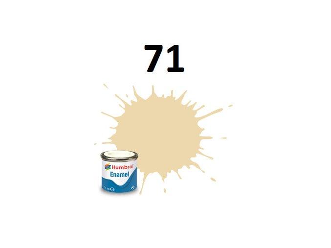 Humbrol barva emailová 71 Oak - Satin
