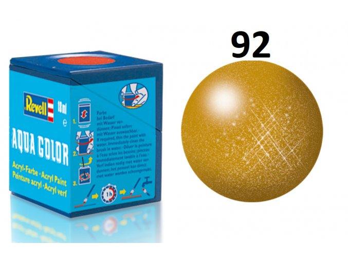 Revell barva akrylová - 36192: metalická mosazná (brass metallic)