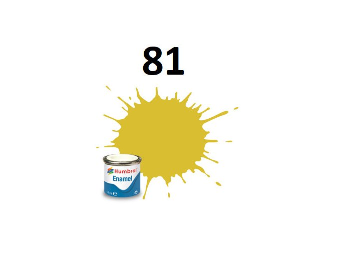 Humbrol barva emailová 81 Pale Yellow - Matt