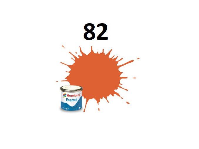 Humbrol barva emailová 82 Orange Lining - Matt