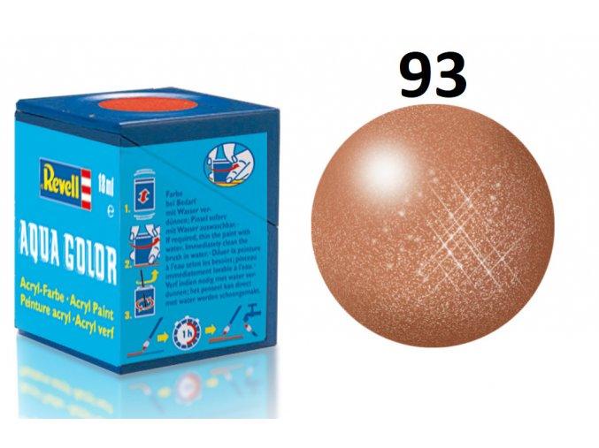 Revell barva akrylová - 36193: metalická měděná (copper metallic)