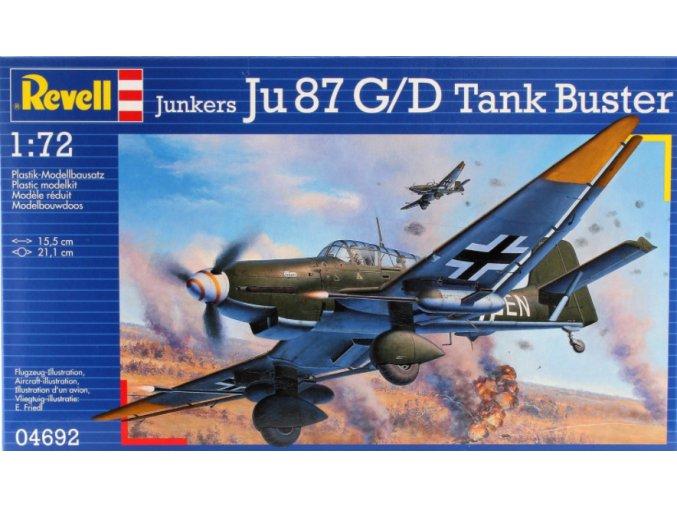 Revell letadlo Junkers Ju 87 G/D Tank Buster 1:72 04692
