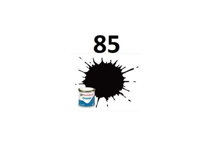Humbrol barva emailová 85 Coal Black - Satin
