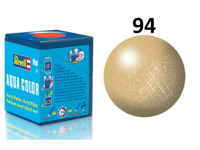 Revell barva akrylová - 36194: metalická zlatá (gold metallic)
