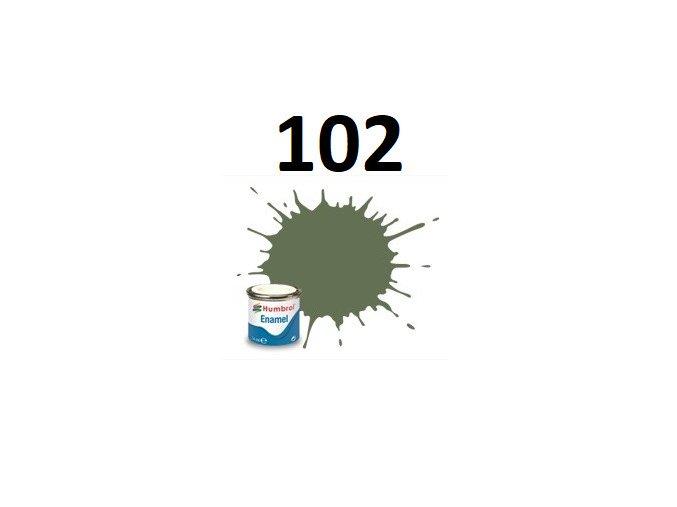 Humbrol barva emailová 102 Army Green - Matt