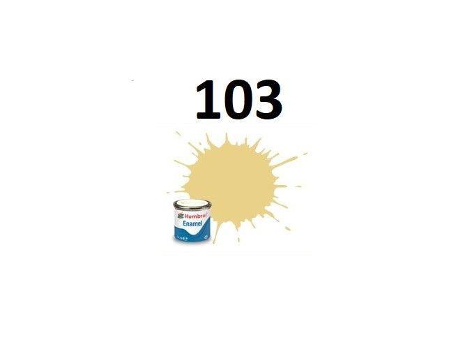 Humbrol barva emailová 103 Cream - Matt