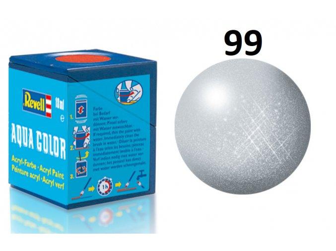Revell barva akrylová - 36199: metalická hliníková (aluminium metallic)