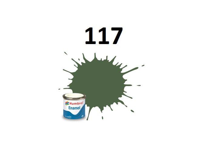 Humbrol barva emailová 117 US Light Green - Matt