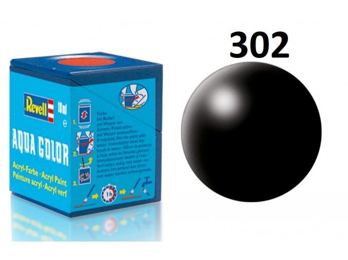 Revell barva akrylová - 36302: hedvábná černá (black silk)