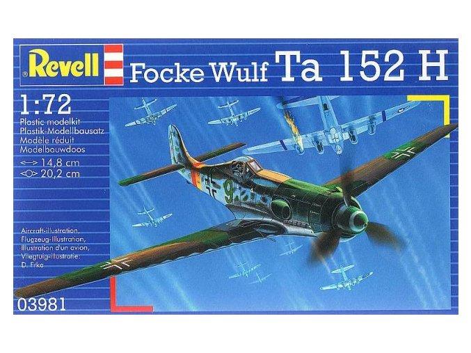 Revell letadlo Focke Wulf Ta 152 H 1:72 03981