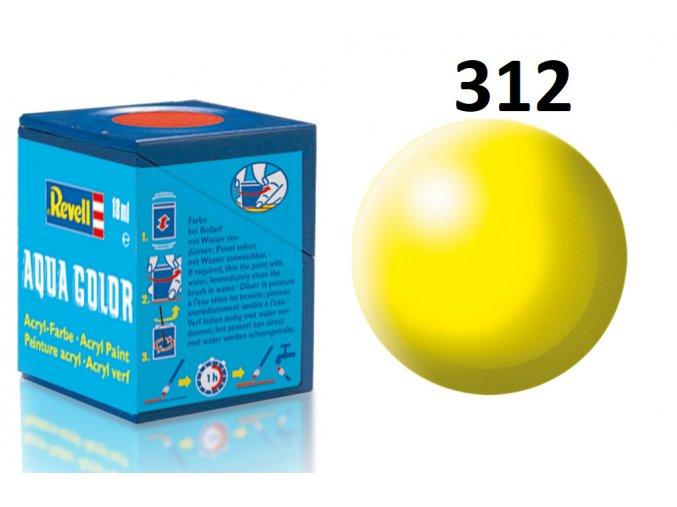 Revell barva akrylová - 36312: hedvábná světle žlutá (luminous yellow silk)
