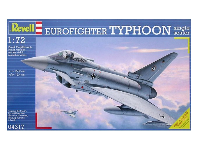 Revell letadlo Eurofighter Typhoon Single Seater 1:72 04317