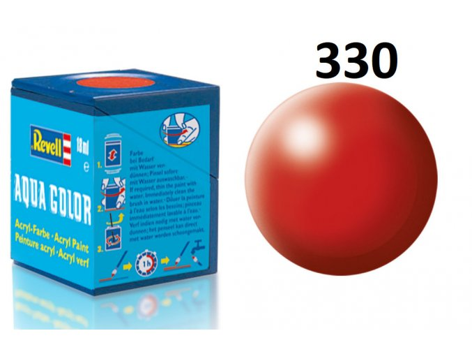 Revell barva akrylová - 36330: hedvábná ohnivě rudá (fiery red silk)