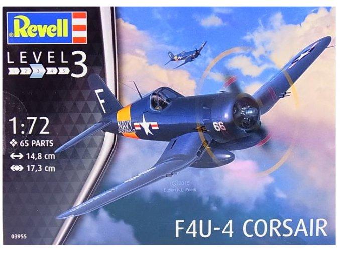 Revell letadlo F4U-4 Corsair 1:72 03955