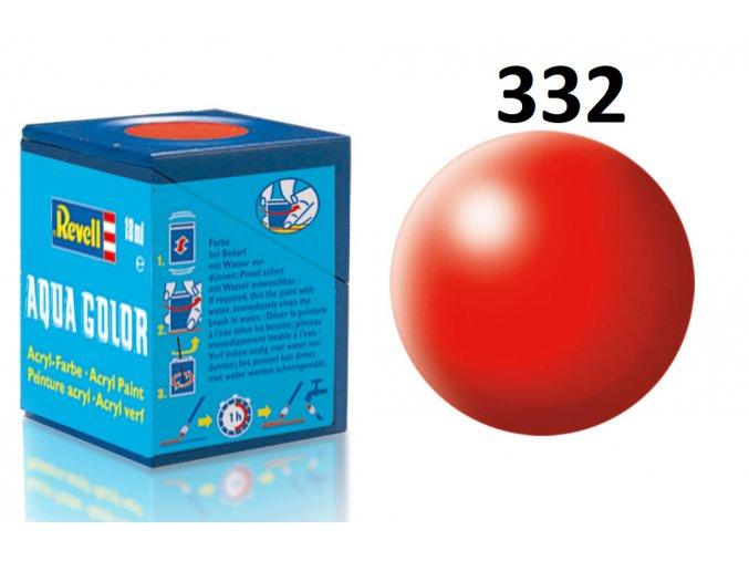 Revell barva akrylová - 36332: hedvábná světle červená (luminous red silk)